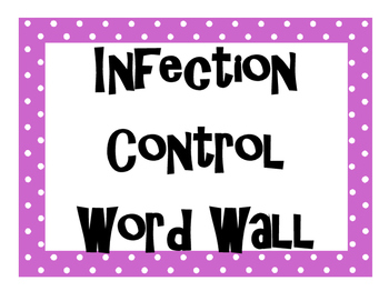Infection Control Word Wall
