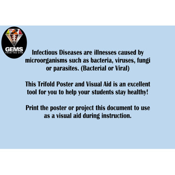 Infectious Disease Tri-Fold Poster!