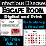 Infectious Diseases Activity Escape Room Game (Microbiology: Bacteria & Viruses)