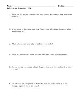 Infectious Diseases Bacteria Virus Homework