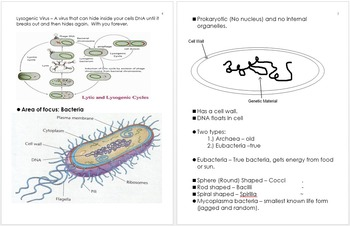 Infectious Diseases Unit Notes, Curriculum and Standards Information
