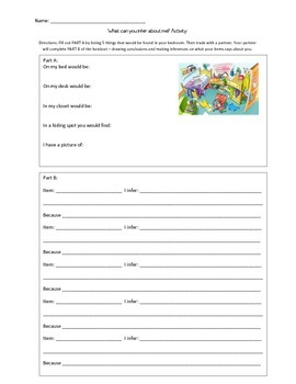 What's in my Room? Inference and Characterization Activity