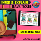 Infer & Explain Travel Trouble BOOM Cards™️ for the Entire Year