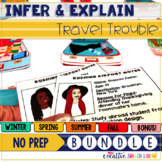 Infer & Explain Travel Trouble: No Prep BUNDLE for the Entire Year