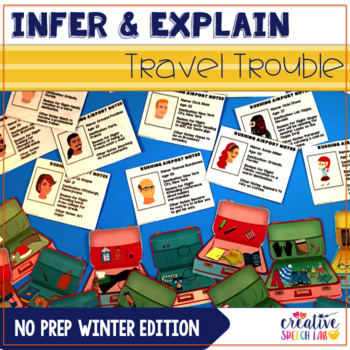 Distance Learning - Infer & Explain Travel Trouble: No Prep Winter Edition
