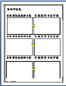 Infer Text Clues Graphic Organizers