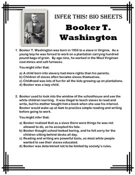 Booker t washington fun facts