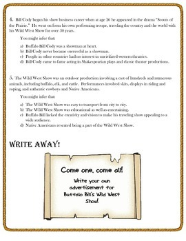 Infer This!  Buffalo Bill Cody Biography Sheet