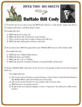 Infer This!  Buffalo Bill Cody Biography Sheet