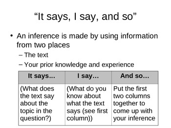 Infer Using an Easy Three-Step Process: Presentation