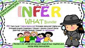 Infer WHAT Bundle -Digital & Print resources-Integrates SEL and Reading Skills