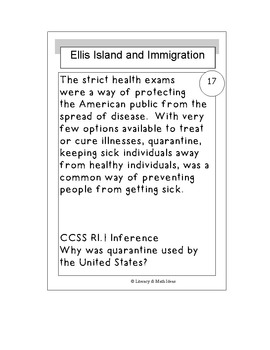 Infer about Ellis Island and Immigration