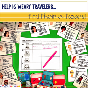 Infer & Explain Travel Trouble: No Prep Spring Edition