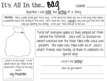 Infer the Setting - Its All in the Bag!