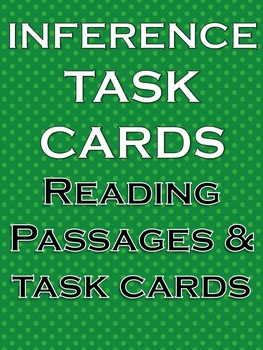 Inference Task Cards Literacy and Writing Activities NO PREP