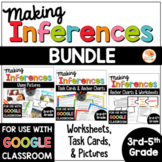 Making Inferences Worksheets, Task Cards, and Pictures BUNDLE
