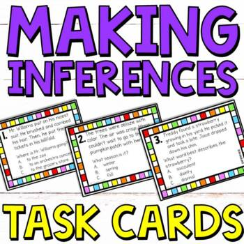 Inferencing Task Cards - Great Inference Practice (Making Inferences)