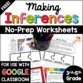 Making Inferences Distance Learning Activities FREE | Inferencing Worksheets