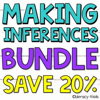 Making Inferences Bundle: Inferencing Printables, PowerPoint, and Task Cards