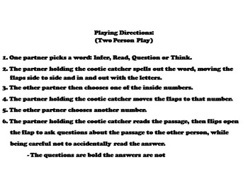 Making Inferences Passages 7th 6th 5th 4th Grade Reading Comprehension Activity