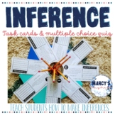 Inference Task Cards for 4th and 5th grade with Quiz