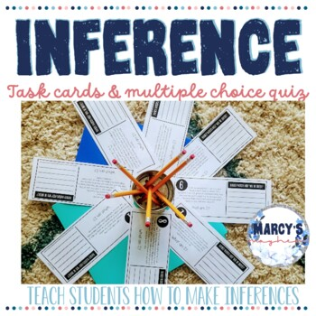 Making Inferences Task Cards for 4th and 5th grade with Quiz