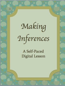 Inference: A Digital, Individualized, Self-Paced Lesson  Moodle or LMS #edtech