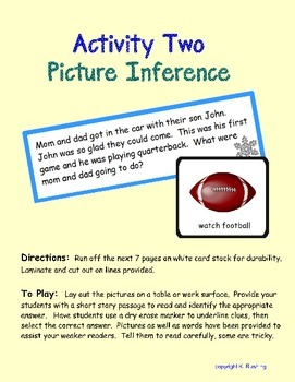 Drawing Conclusions - Inference Activities - For Early Readers - Winter Theme