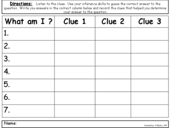 Inference Riddle Activity