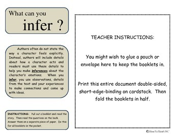 Inference Activity #3: Inferring in Stories