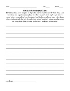 Inference Activity - POV Paragraphs