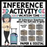 Inference Activity Vacation Time: Paper & Digital for Distance Learning