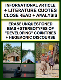 "Inference & Analysis: Point of View Bias on ""Developing"" Countries"