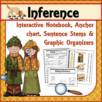 Inference Anchor Chart Graphic Organizer and INB