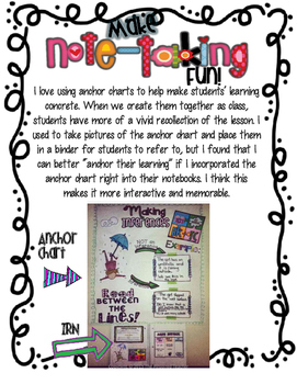 Inference Anchor Chart + Interactive Reading Notebook Inserts Combo Pack