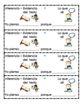 Inference Bookmark Spanish