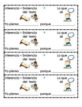 Inference Bookmark Spanish