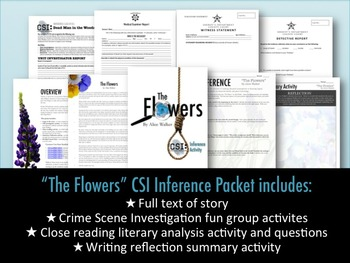 """Inference CSI Activity: """"The Flowers"""" by Alice Walker"""