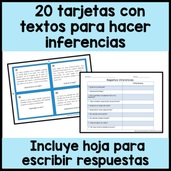 Making Inferences in Spanish - Inferencias