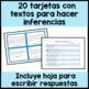Inference Task Cards in Spanish- Tarjetas de inferencias