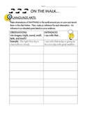 Inference Chart - Outside/Field Trip Activity