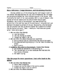 Inference, Comprehension, and Vocabulary Practice
