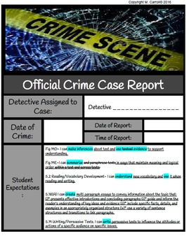 Inference Crime Scene Analysis and Report