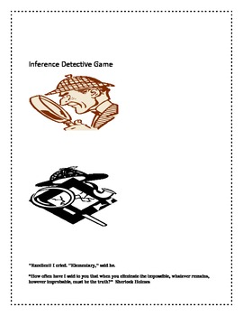 Inference Detective Game