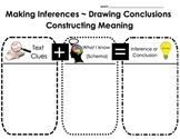 Inference & Drawing Conclusions Graphic Organizer; Text Clues+Schema=Inference