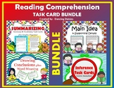 Summary, Inference, Drawing Conclusions, Main Idea Task Cards - BUNDLE
