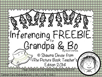 Inference FREEBIE inspired by Grandpa and Bo by Kevin Henkes