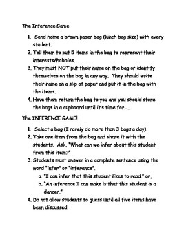 Inference Game