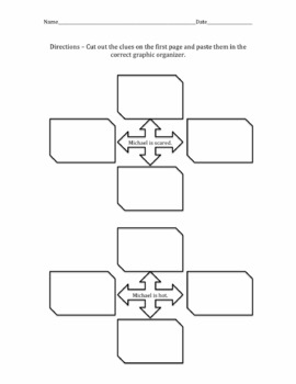 Inference Graphic Organizer Cut and Paste Activity