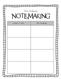 Inference Graphic Organizer Pack